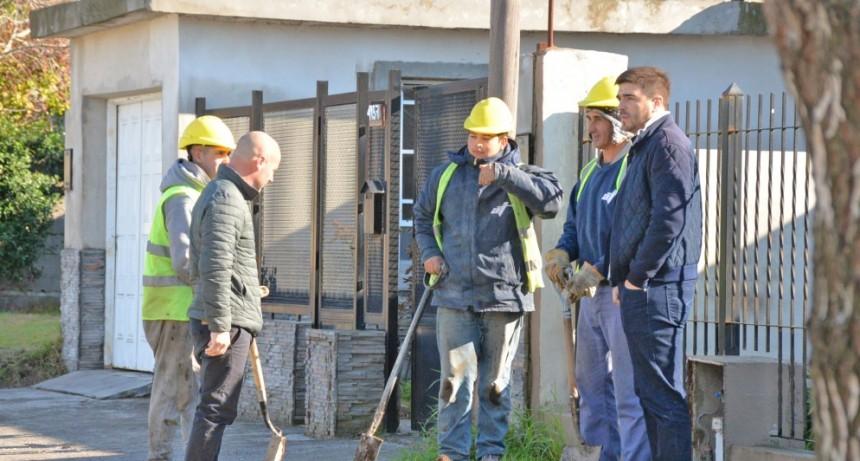 Avanza la segunda etapa de cloacas en Villa Floresta-Belgrano