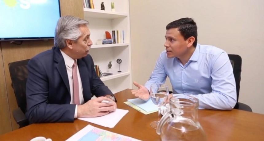 Federico Aguilera se reunió con Alberto Fernández