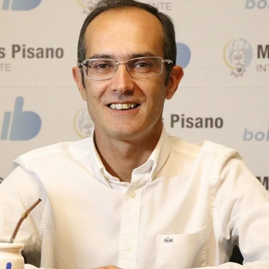 Marcos Pisano, intendente de Bolívar, de visita en Olavarría