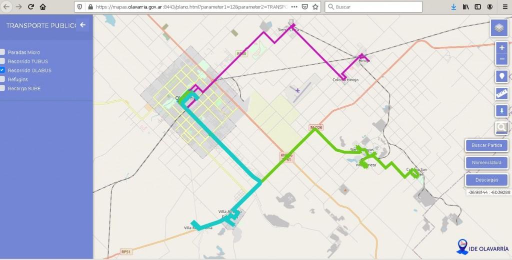 La Comuna pone a disposición mapas de Olavarría en internet
