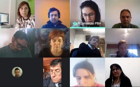 Reunión virtual de la Mesa de Comercio