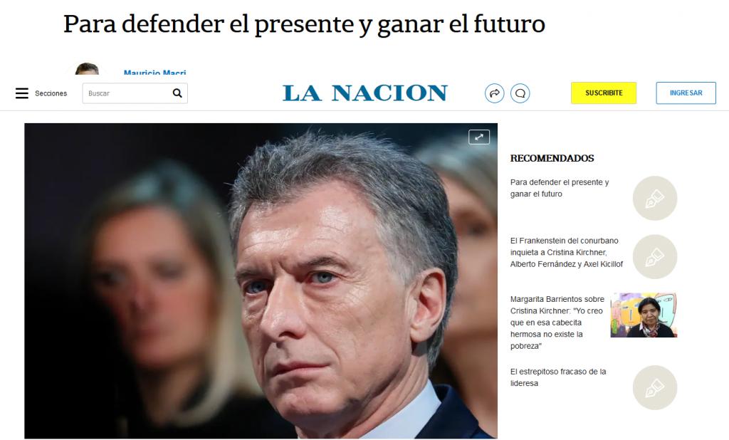 Macri acusó al Gobierno de un