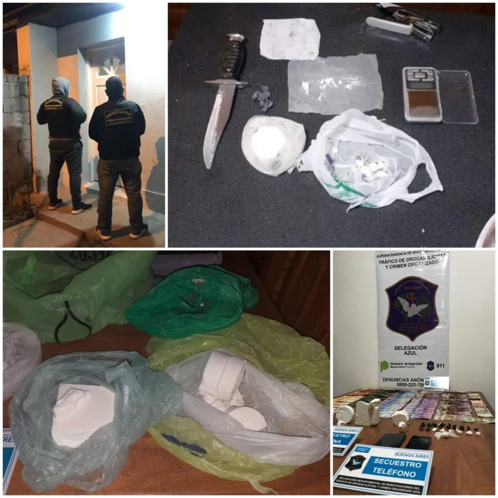 Secuestraron medio kilo de cocaína en un allanamiento