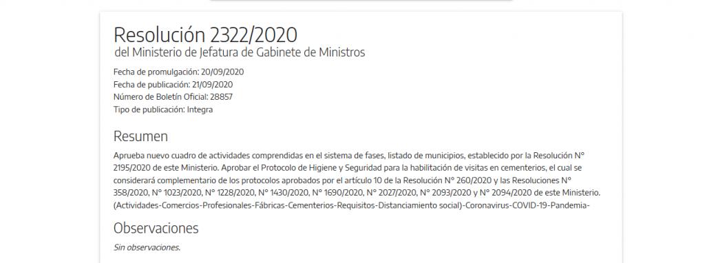 Olavarría y 71 municipios más en Fase 4