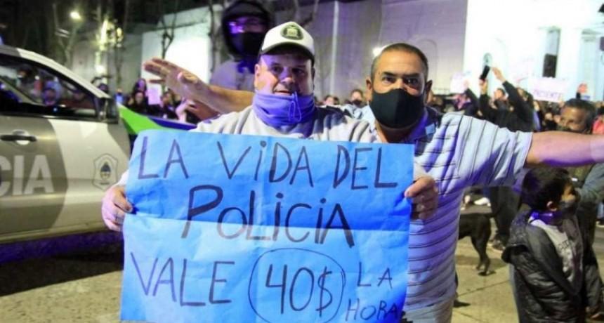 Nuevamente hubo manifestación policial en Olavarría