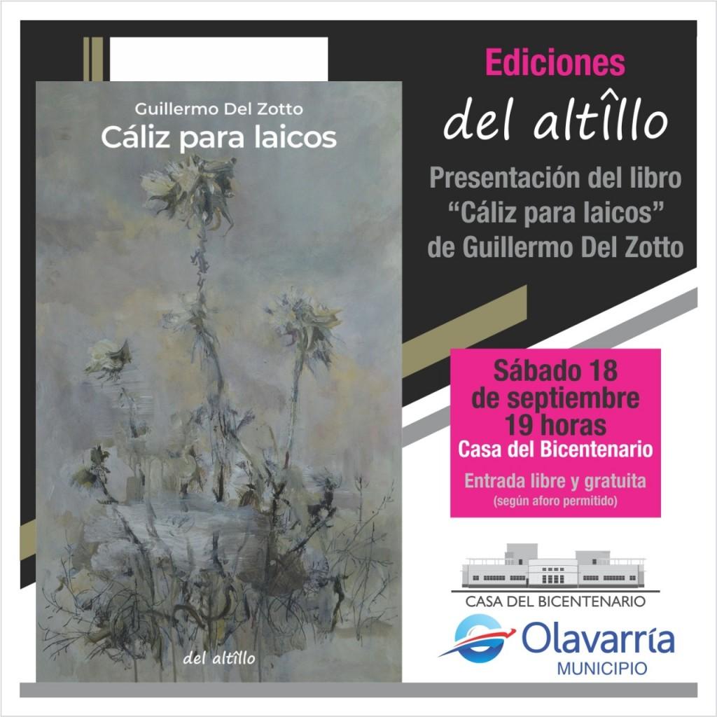 Se presenta 'Cáliz para laicos', de Guillermo Del Zotto