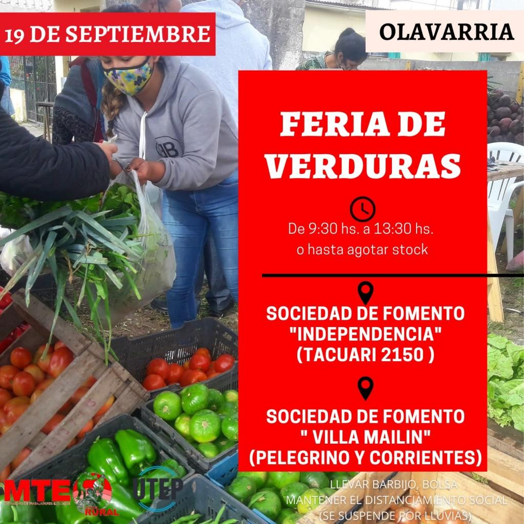 Nueva Feria de Verduras del MTE