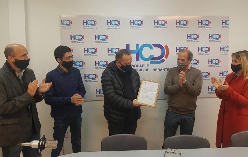 El HCD reconoció a José 'Mosquito' Montesano