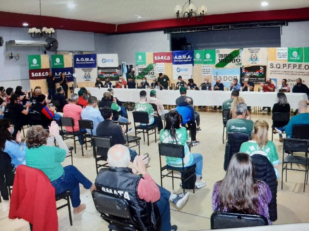 Gremios de la Casa del Trabajador se reunieron contra la Reforma Laboral