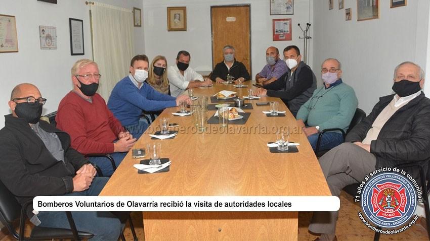 Funcionarios locales, provinciales y nacionales visitaron Bomberos