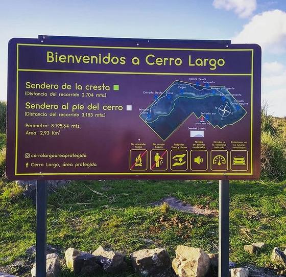 Instalaron cartel de acceso al Cerro Largo