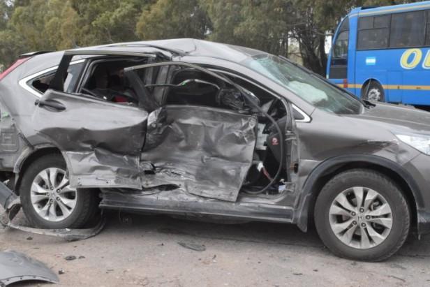 Dos camionetas colisionaron en Ruta 51 y Avellaneda