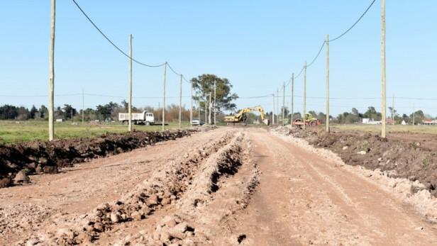 Pickelado: avanzan las obras de infraestructura