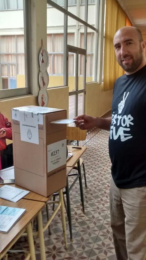El voto de César Valicenti