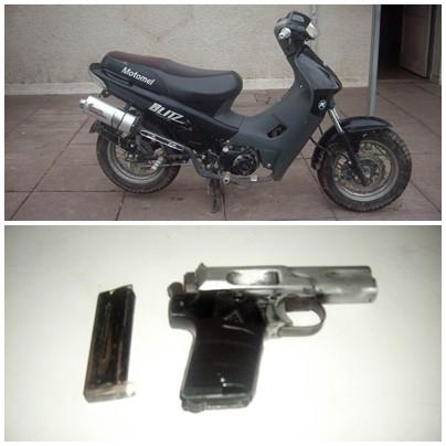 Un adolescente armado y con una moto robada a un policía fue retenido