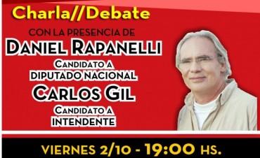 El candidato Rapaneli del FIT visita Olavarría nuevamente