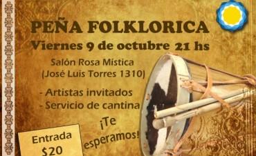 Peña folklórica organizada por La Cámpora