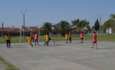 Encuentro de Handball en el barrio Belgrano