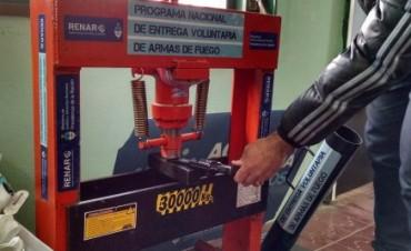 RENAR: destruyeron unas 150 armas y más de 2000 municiones en Olavarría