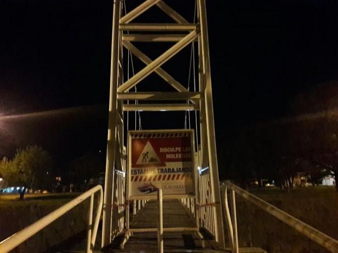 Se clausuró el puente colgante de calle Álvaro Barros