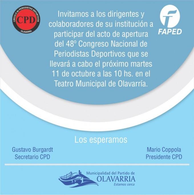 Da comienzo la 48 va Edición del Congreso de Periodistas Deportivos