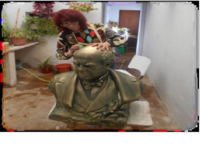 Reinauguración del busto de Sarmiento en el ex Nacional
