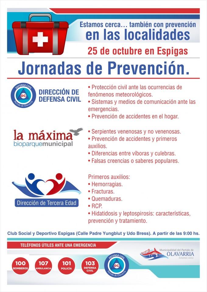 Jornadas de Prevención en las localidades