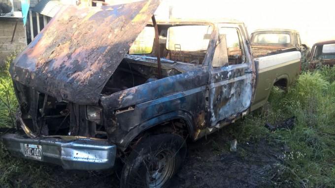 Se incendió una camioneta sin motor
