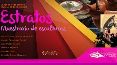 """""""Estratos"""" muestrario de escultura en el Museo Dámaso Arce"""