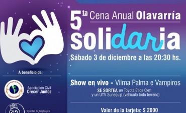Olavarría solidaria: continúa la venta de tarjetas para el 3 de diciembre