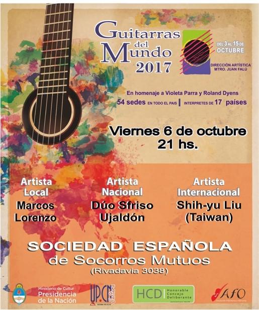 """El Festival """"Guitarras del Mundo"""", este viernes en la Sociedad Española"""