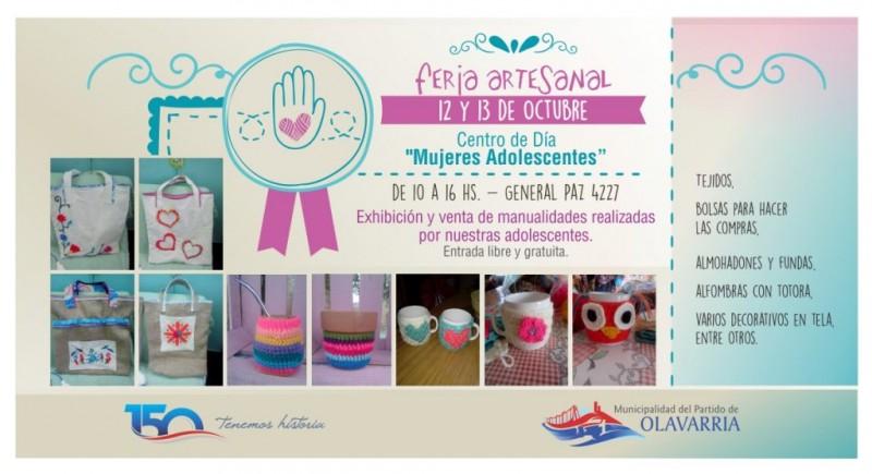 """Feria artesanal en el Centro de Día """"Mujeres Adolescentes"""""""