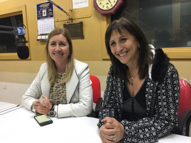 Mirta Tundis estuvo en la ciudad y pasó por Radio Olavarría