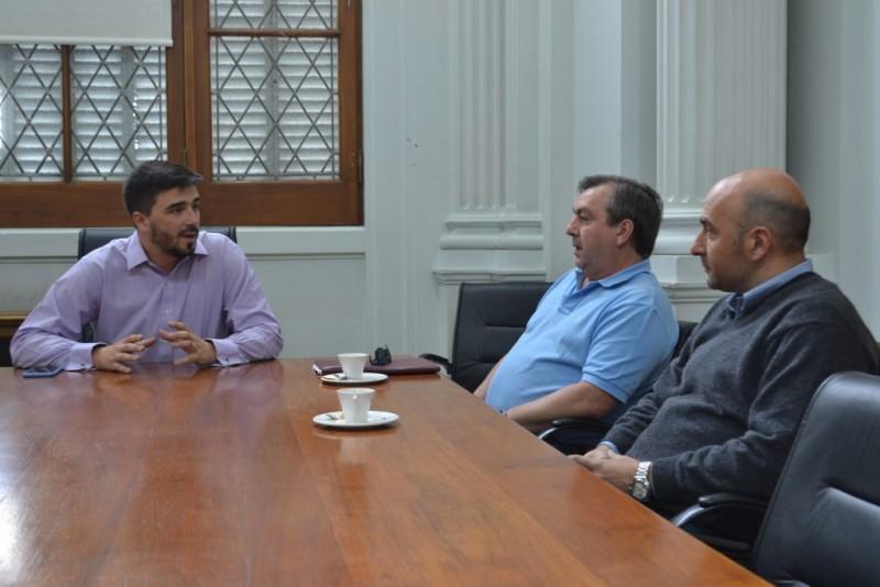 Galli recibió a representantes del Colegio de Farmacéuticos de Olavarría