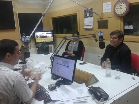 Dirigentes de la Sociedad Argentina de Locutores en Olavarría