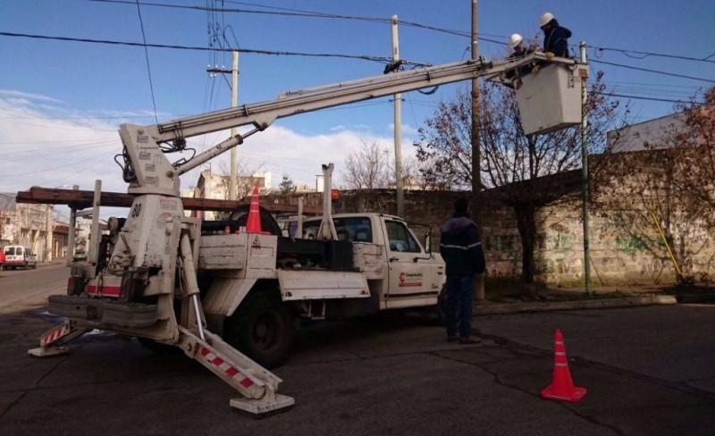 Interrupción del servicio eléctrico en un sector de la Ciudad el martes