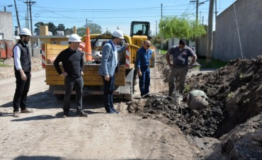 Comenzó la obra de pavimentación en Sarmiento Norte