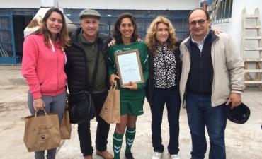 Saladillo:  Olarticoechea y Josefina Martorell en el Torneo Regional y Clínica de Fútbol Femenino