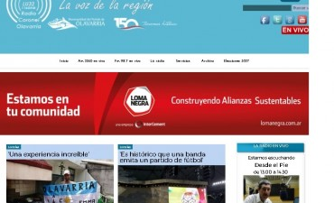 Más de 25 mil consultas diarias se registran en la web de Radio Olavarría