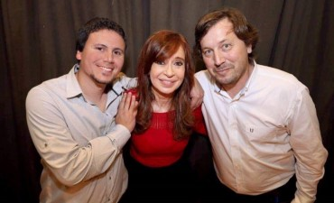 Aguilera y Santellán con Cristina Kirchner