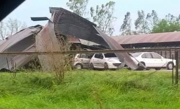 Granizo, viento y lluvia afectó fuertemente a Pirovano y Urdampilleta