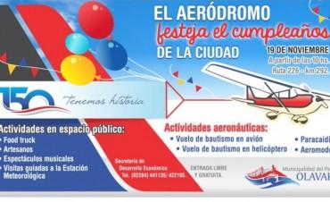 Olavarría festeja su aniversario con un encuentro aeronáutico