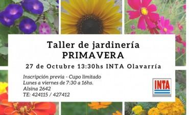 Taller de jardinería Primavera en INTA Olavarría