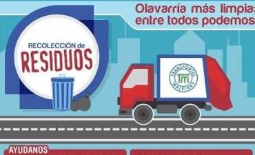 Recolección de residuos en barrios Jardín y UTA