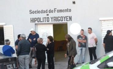 """Actividad en la Sociedad de Fomento """"Hipólito Yrigoyen"""""""