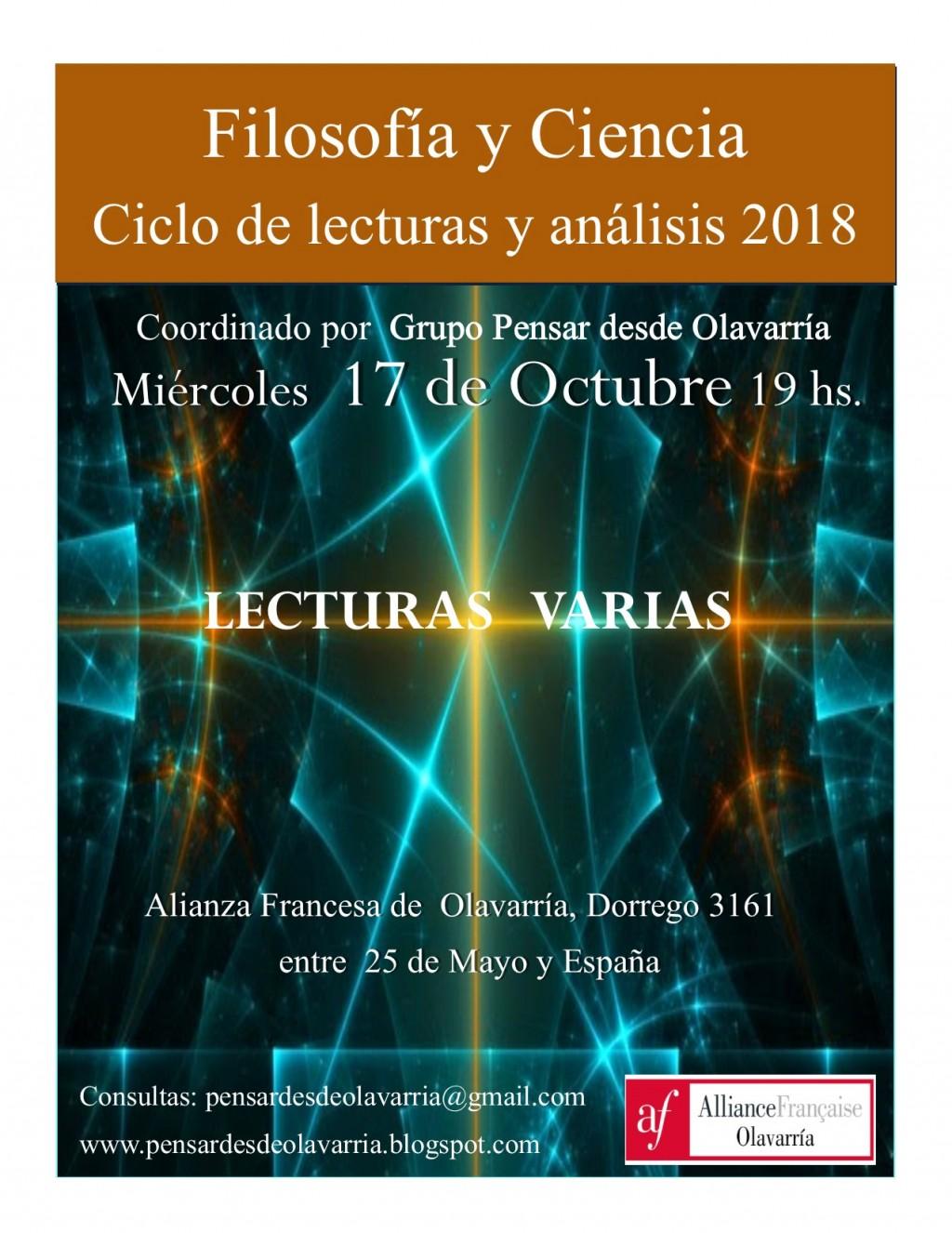 Nuevo encuentro del ciclo Filosofía y Ciencia