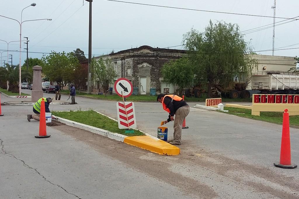 En Hinojo se realizaron trabajos de infraestructura vial