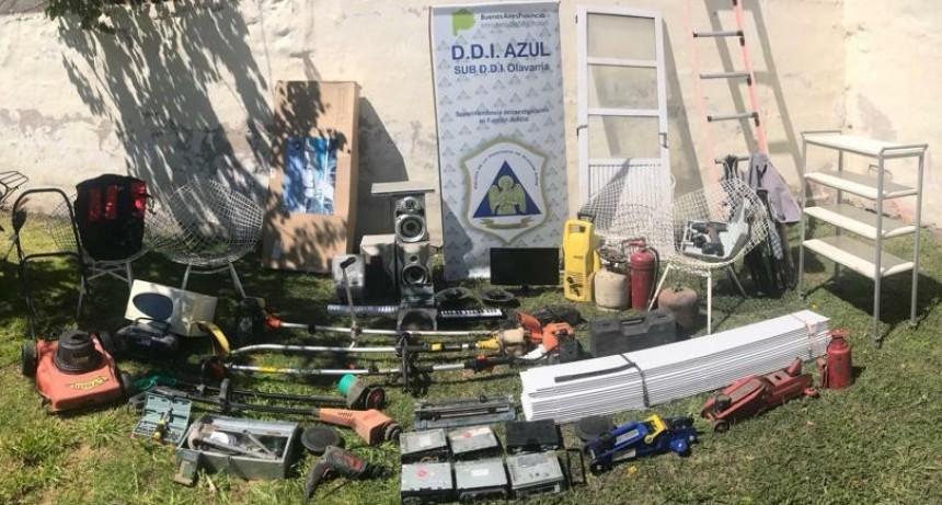 Hallaron electrodomésticos y otros elementos robados en 'escruches'