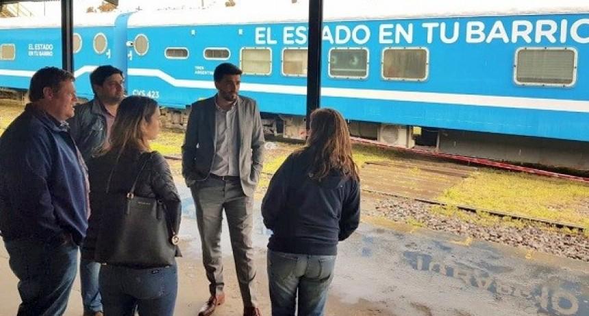 El tren sociosanitario de Nación llegó a Olavarría