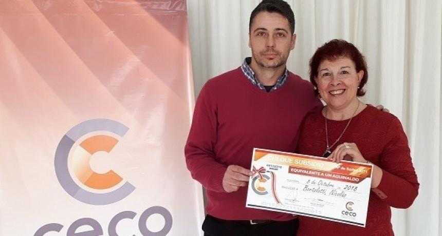 Nuevos ganadores en los sorteos de aguinaldos que realiza el Ceco
